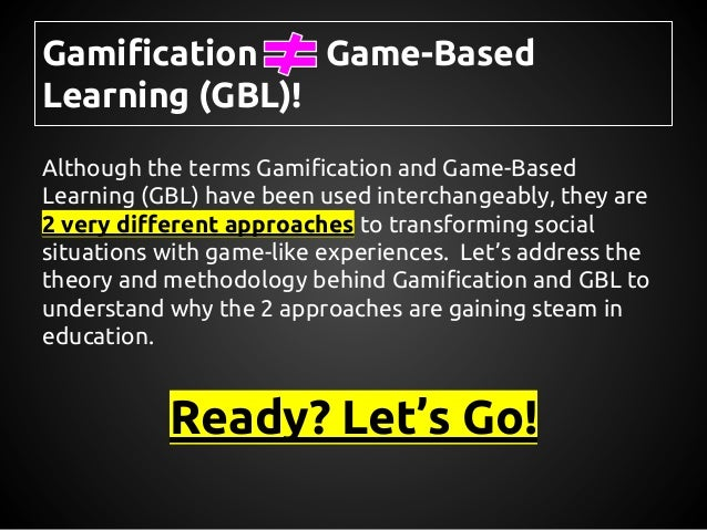 Gamification vs. Game-Based Learning - Theories, Methods, and Controversies Slide 2