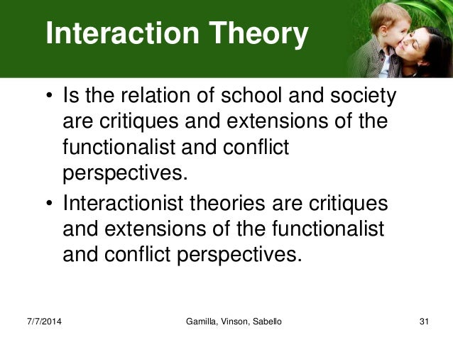 difference between conflict theory functional theory and interactionist theory This essay explores the similarities and differences between structural functionalism, conflict theory and symbolic interactionism as some of the sociological.