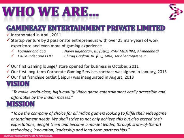GaminEazy Entertainment Pvt Ltd. All rights reserved.GaminEazy Entertainment Pvt Ltd. All rights reserved.  Incorporated ...