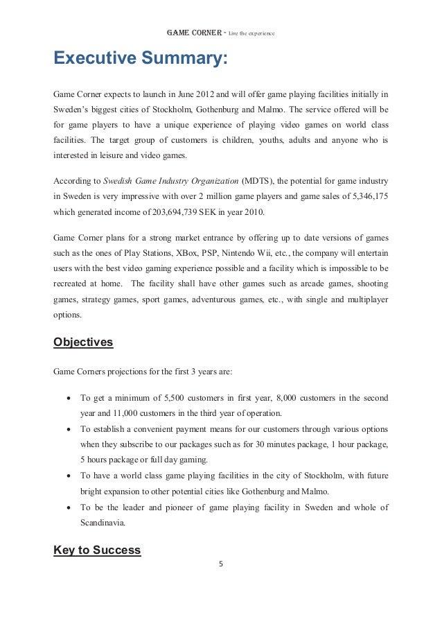 Gaming cafe-business-plan