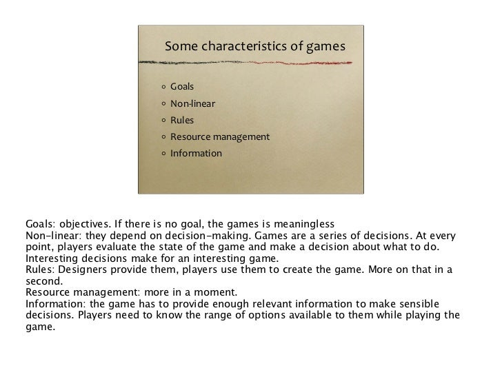 A fundamental part of any game. When you buy a game, you are basically buying the rules (and the materials to make the rul...