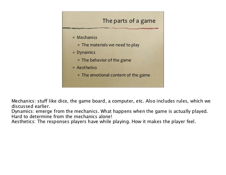 """The Dynamics. What happens when you """"play the game"""""""