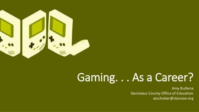 Game Design as Career