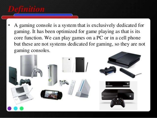 Gaming console - Console meaning in computer ...