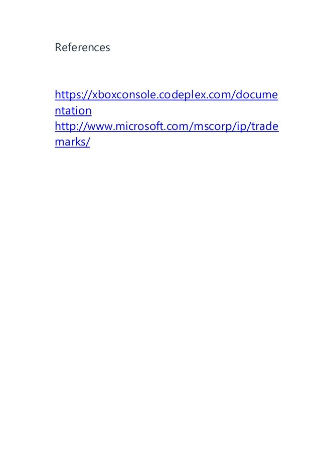 Gaming console technology documentation taking xbox one as referrence
