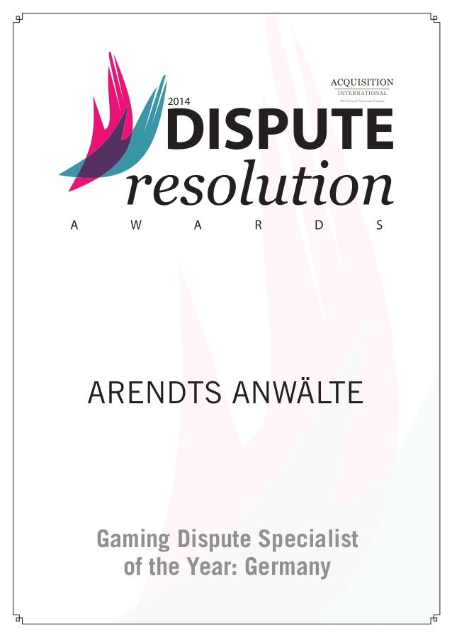 Gaming Dispute Specialist of the Year: Germany ARENDTS ANWÄLTE