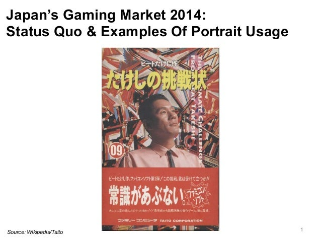 Japan's Gaming Market 2014:  Status Quo & Examples Of Portrait Usage  Source: Wikipedia/Taito 1