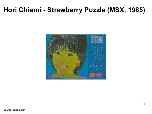 Hori Chiemi - Strawberry Puzzle (MSX, 1985)  15  Source: Tape Load