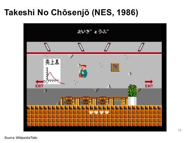 Takeshi No Chōsenjō (NES, 1986)  16  Source: Wikipedia/Taito