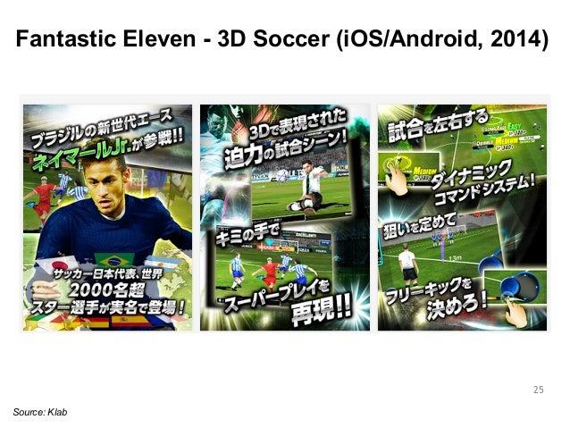 Fantastic Eleven - 3D Soccer (iOS/Android, 2014)  25  Source: Klab