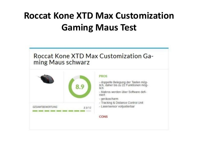 Roccat Kone XTD Max Customization Gaming Maus Test