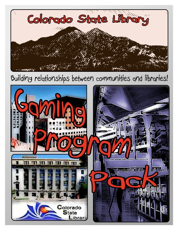 Gaming Program Pack, Colorado Association of Libraries Conference, 2008