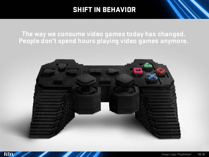 SHIFT IN BEHAVIOR    The way we consume video games today has changed. People don't spend hours playing video games anymor...