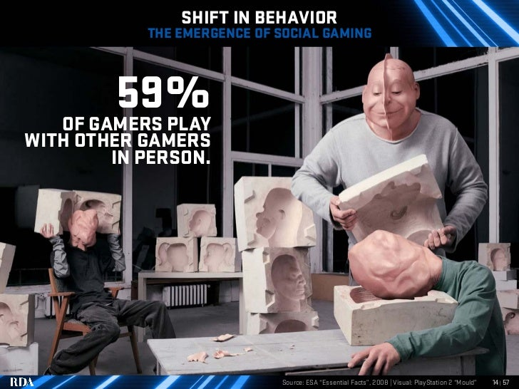 SHIFT IN BEHAVIOR            THE EMERGENCE OF SOCIAL GAMING            59%    OF GAMERS PLAY WITH OTHER GAMERS         IN ...