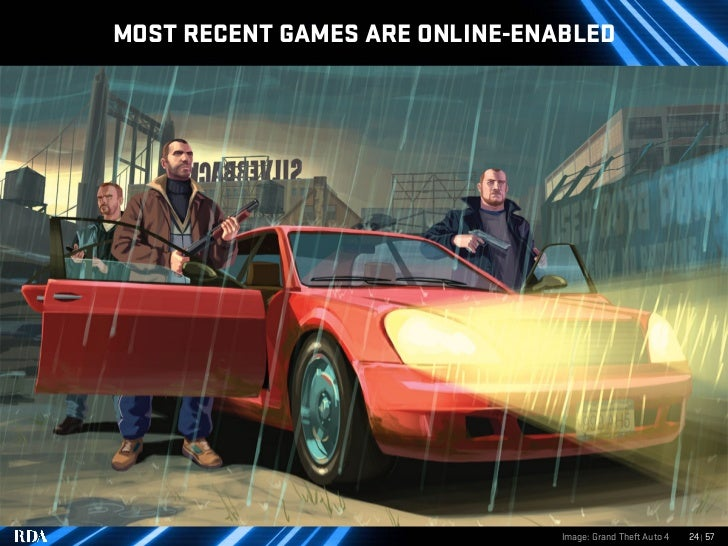 MOST RECENT GAMES ARE ONLINE-ENABLED                                     Image: Grand Theft Auto 4   24   57