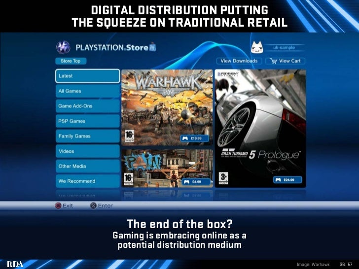 DIGITAL DISTRIBUTION PUTTING THE SQUEEZE ON TRADITIONAL RETAIL              The end of the box?       Gaming is embracing ...