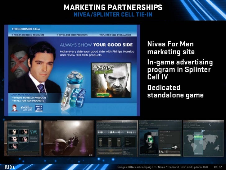 MARKETING PARTNERSHIPS   NIVEA/SPLINTER CELL TIE-IN                                          Nivea For Men                ...