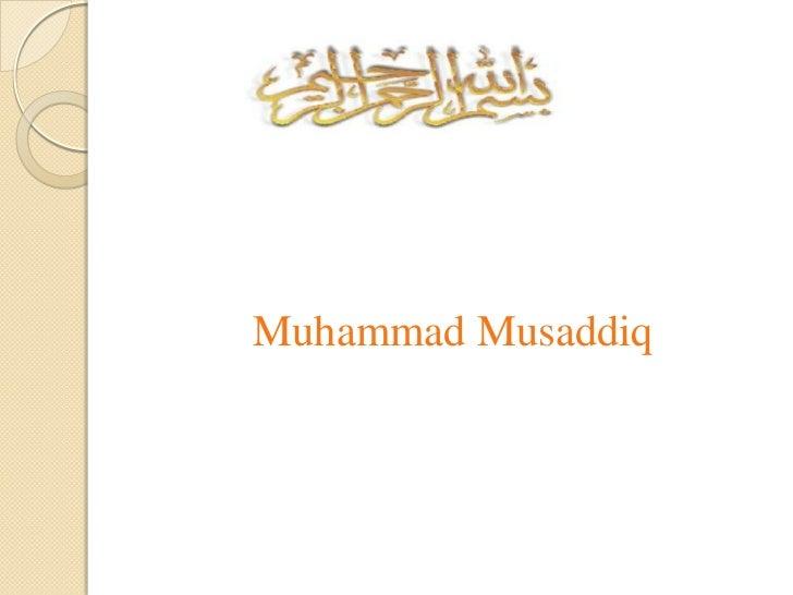 Muhammad Musaddiq<br />