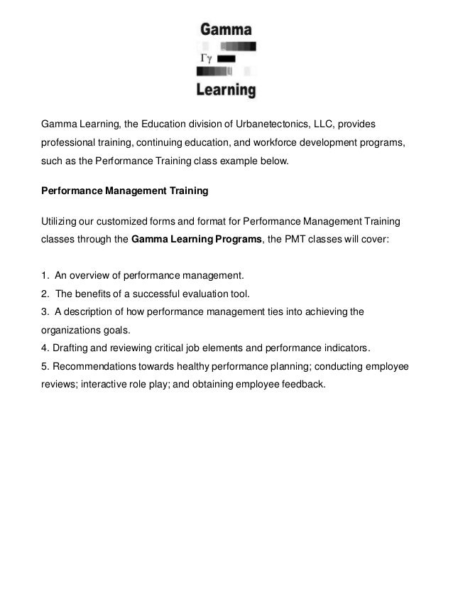 Gamma Learning, the Education division of Urbanetectonics, LLC, provides professional training, continuing education, and ...