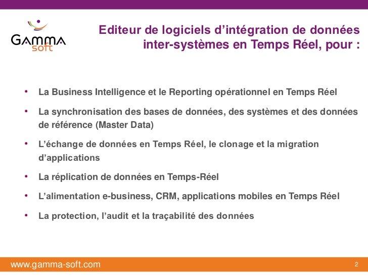 Editeur de logiciels d'intégration de données                           inter-systèmes en Temps Réel, pour :  • La Busines...