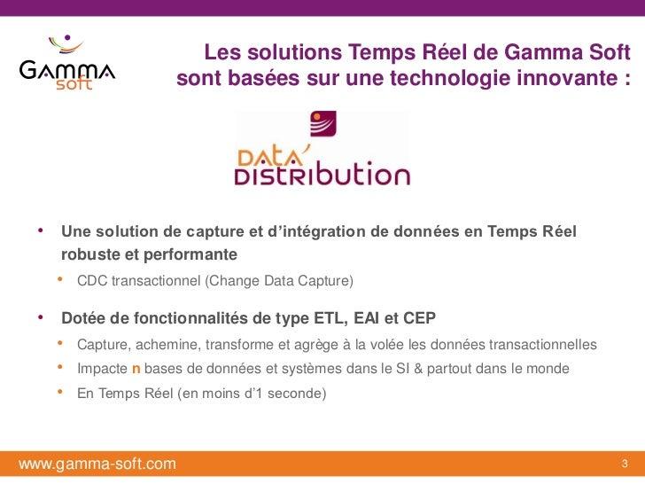 Les solutions Temps Réel de Gamma Soft                      sont basées sur une technologie innovante :  • Une solution de...