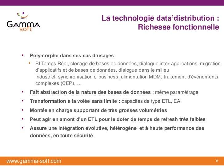 La technologie data'distribution :                                                   Richesse fonctionnelle    •   Polymor...