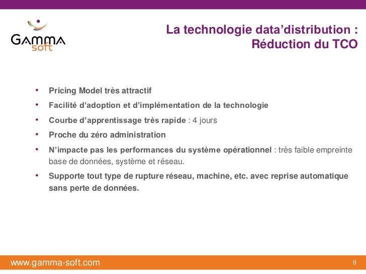 La technologie data'distribution :                                                      Réduction du TCO    •   Pricing Mo...