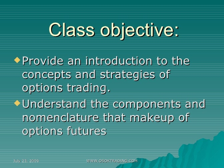 Understanding stock option trading