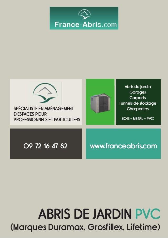 ABRIS DE JARDIN PVC (Marques Duramax, Grosfillex, Lifetime) SPÉCIALISTE EN AMÉNAGEMENT D'ESPACES POUR PROFESSIONNELS ET PA...