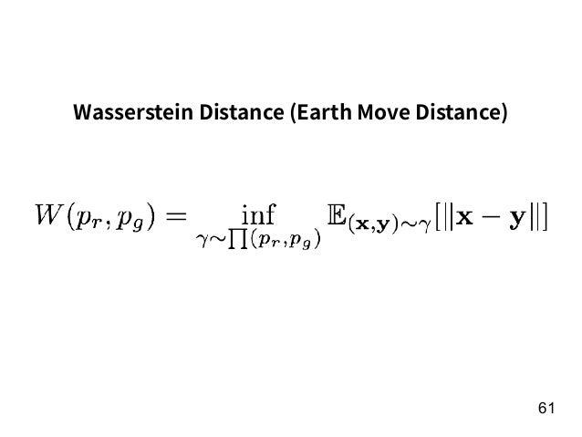 61 Wasserstein Distance (Earth Move Distance)