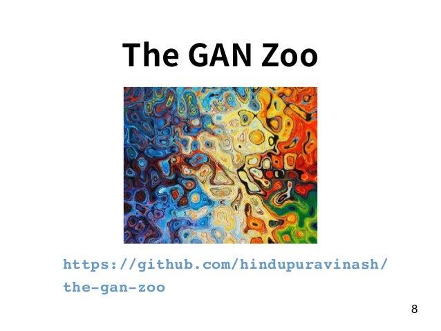 8 The GAN Zoo https://github.com/hindupuravinash/ the-gan-zoo