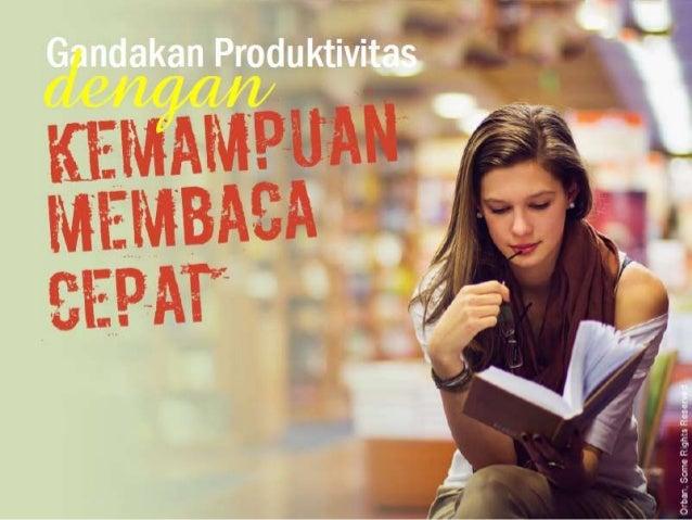 Gandakan produktivitas dengan membaca cepat