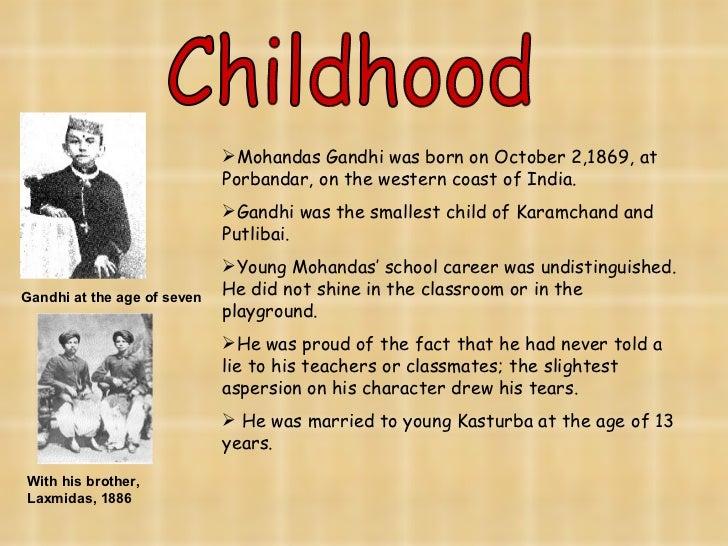 mahatma gandhi childhood information