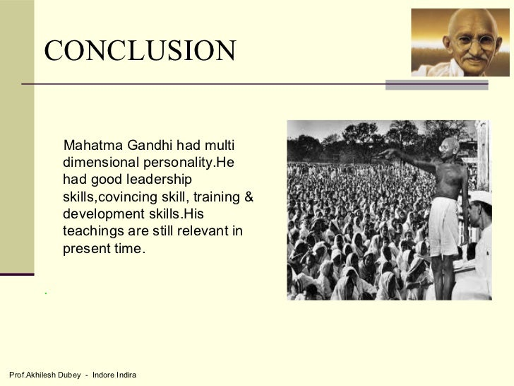 why gandhi was a good leader essay