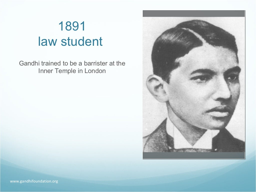 1891 law student gandhi trained