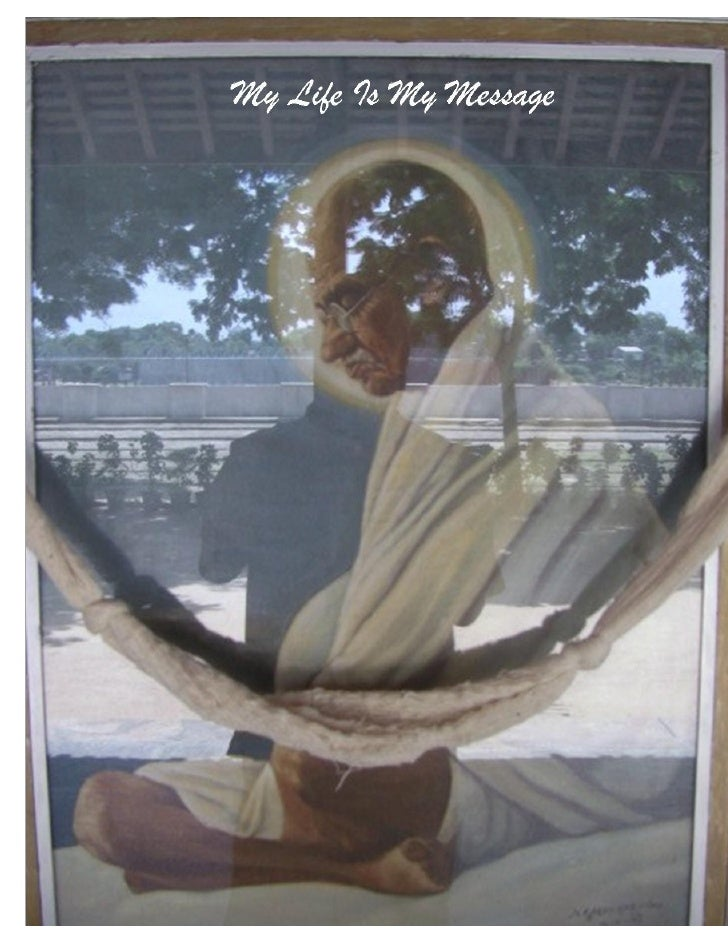Gandhi Picture & Marty Reflection