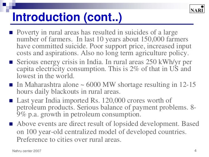 causes of energy crisis in indian rural and urban areas Energy options for urban household in india (individual authors)  people of  india live in urban areas and rely on different energy sources for cooking  for 90  percent of rural and 50 percent of urban household energy consumption  has  led to increasing shortage and rise of urban firewood prices (bewonder et al 1983.