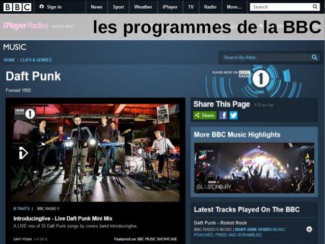 les programmes de la BBC