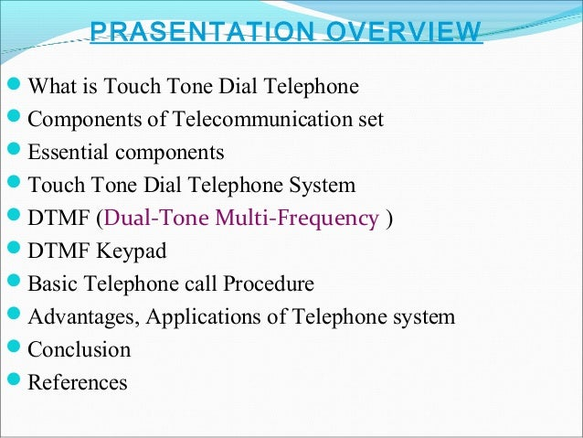 Touch Tone Dial Telephone System