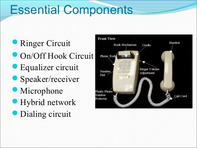 Touch Tone Dial Telephone System on Basic Circuit Diagram