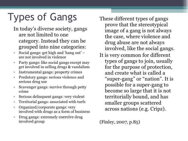 different types of gangs