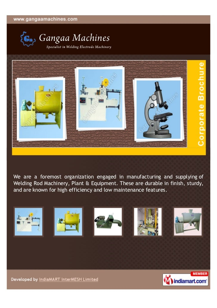 We are a foremost organization engaged in manufacturing and supplying ofWelding Rod Machinery, Plant & Equipment. These ar...