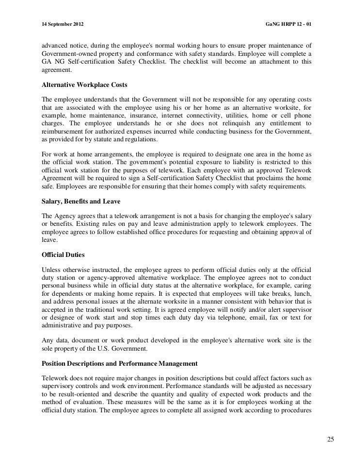 Ga Ng Hr Personnel Policy 12 01telework 20120914