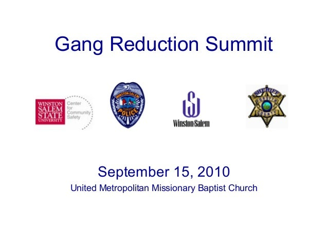 September 15, 2010 United Metropolitan Missionary Baptist Church Gang Reduction Summit