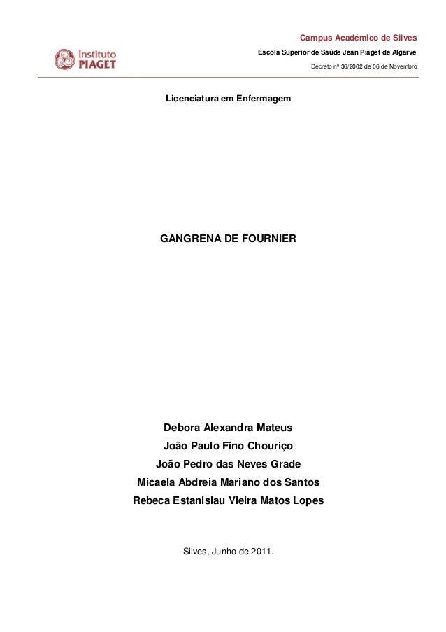 Campus Académico de Silves Escola Superior de Saúde Jean Piaget de Algarve Decreto nº 36/2002 de 06 de Novembro Licenciatu...