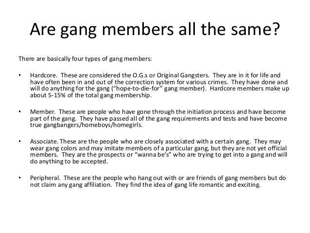 Gangs What You Need To Know