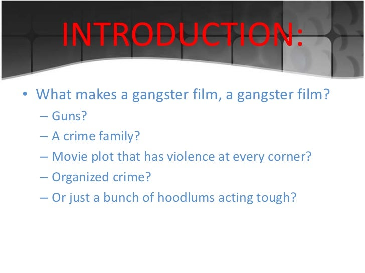 Gangster movies essay