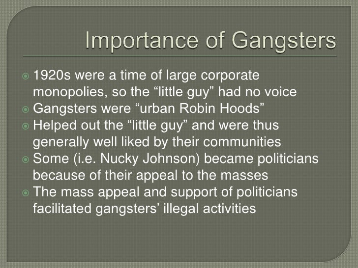 gangsters and bootleggers in the 1920s