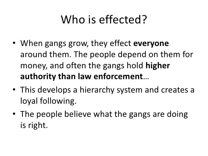 gang effects on communities