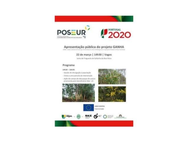 GANHA: Gestão sustentável de Acacia spp.: controlo Natural e outras metodologias para recuperação de Habitats em Áreas cla...